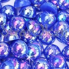 Купите оптом полубусины, полужемчуг Sapphire AB синий с АБ покрытием