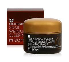 Ночная маска c экстрактом улитки MIZON Snail Wrinkle Care Sleeping Pack