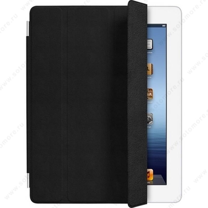 Чехол-обложка кожаная Apple Smart Cover для Apple iPad 4/ 3/ 2 MD364 - Черный ORIGINAL