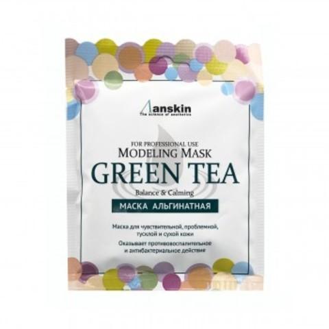 Маска альгинатная с зеленым чаем успокаивающая ANSKIN Green Tea Modeling Mask 25 гр саше