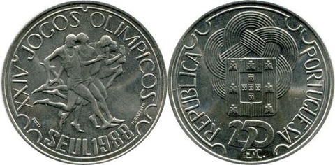 "250 эскудо 1988 год ""Олимпиада в Сеуле"""