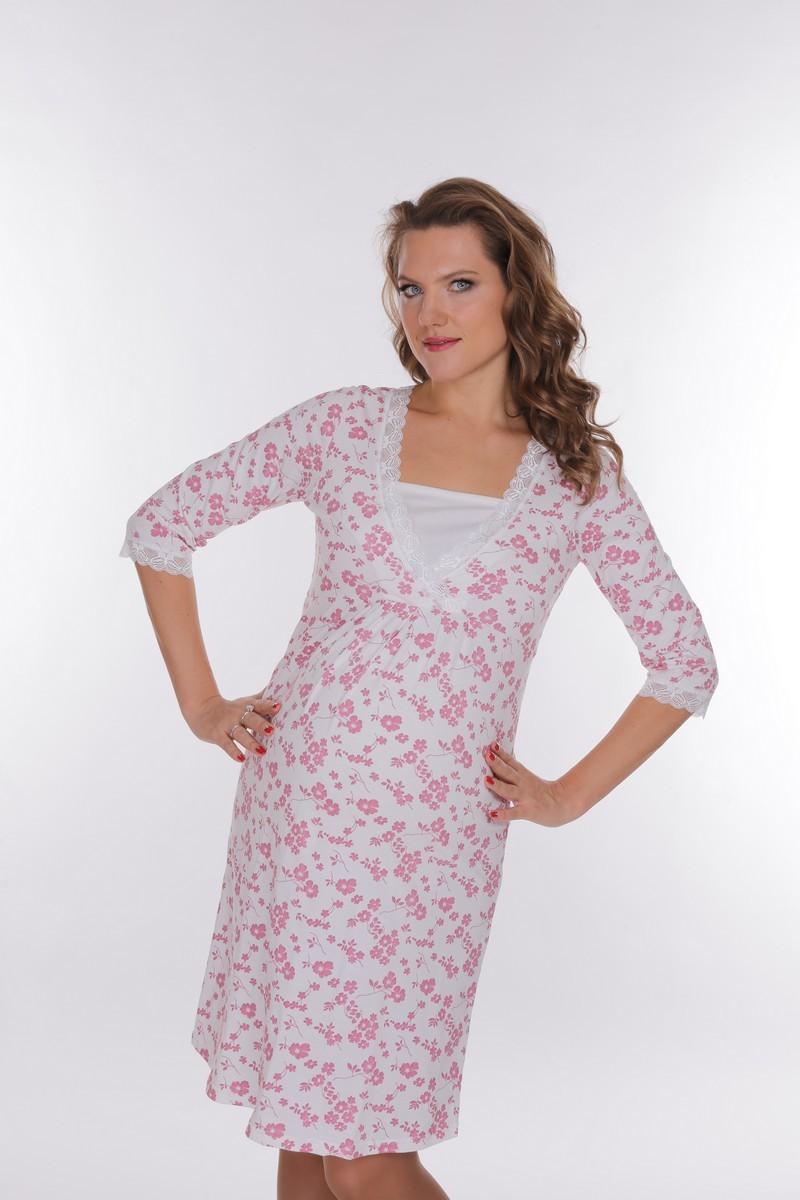 Ночная сорочка для беременных и кормящих 09151 цветной