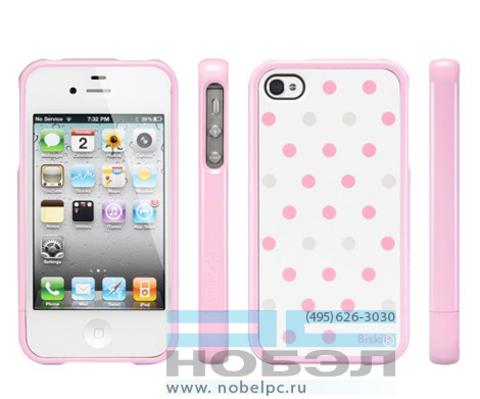 Чехол для iPhone SGP для iPhone 4S бисквит мальтис SGP iPhone 4 / 4S Case Linear Biskitt Series SGP08679 розовые горошины