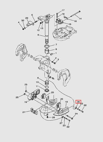 Провод для лодочного мотора T40 Sea-PRO (20-26)