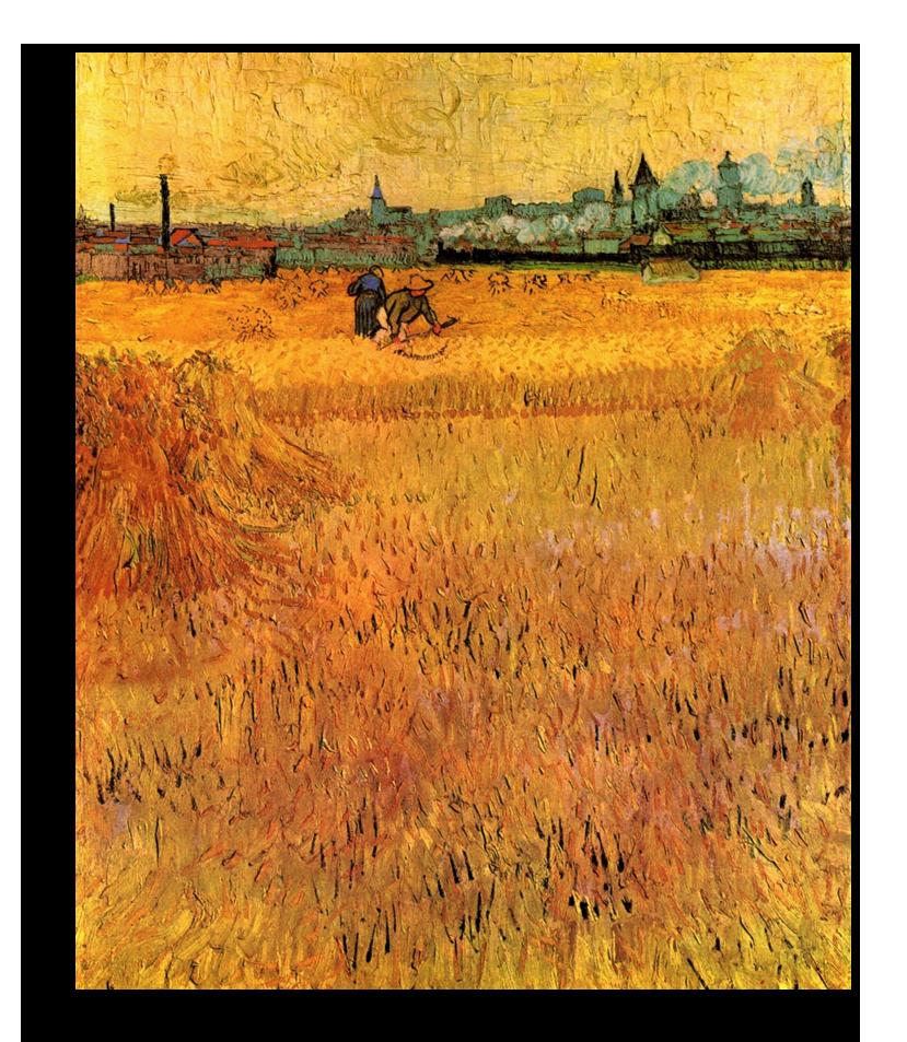 """Ван Гог Репродукция """"Ван Гог - Пшеничное поле"""" Х42.png"""