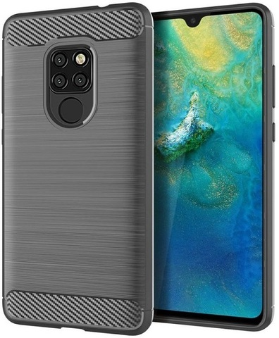 Чехол Huawei Mate 20 цвет Gray (серый), серия Carbon, Caseport