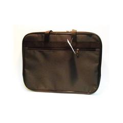 Папка-портфель нейлоновая А4 черная (310x390 мм, 1 отделение)
