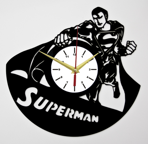 Супермен Часы из Пластинки