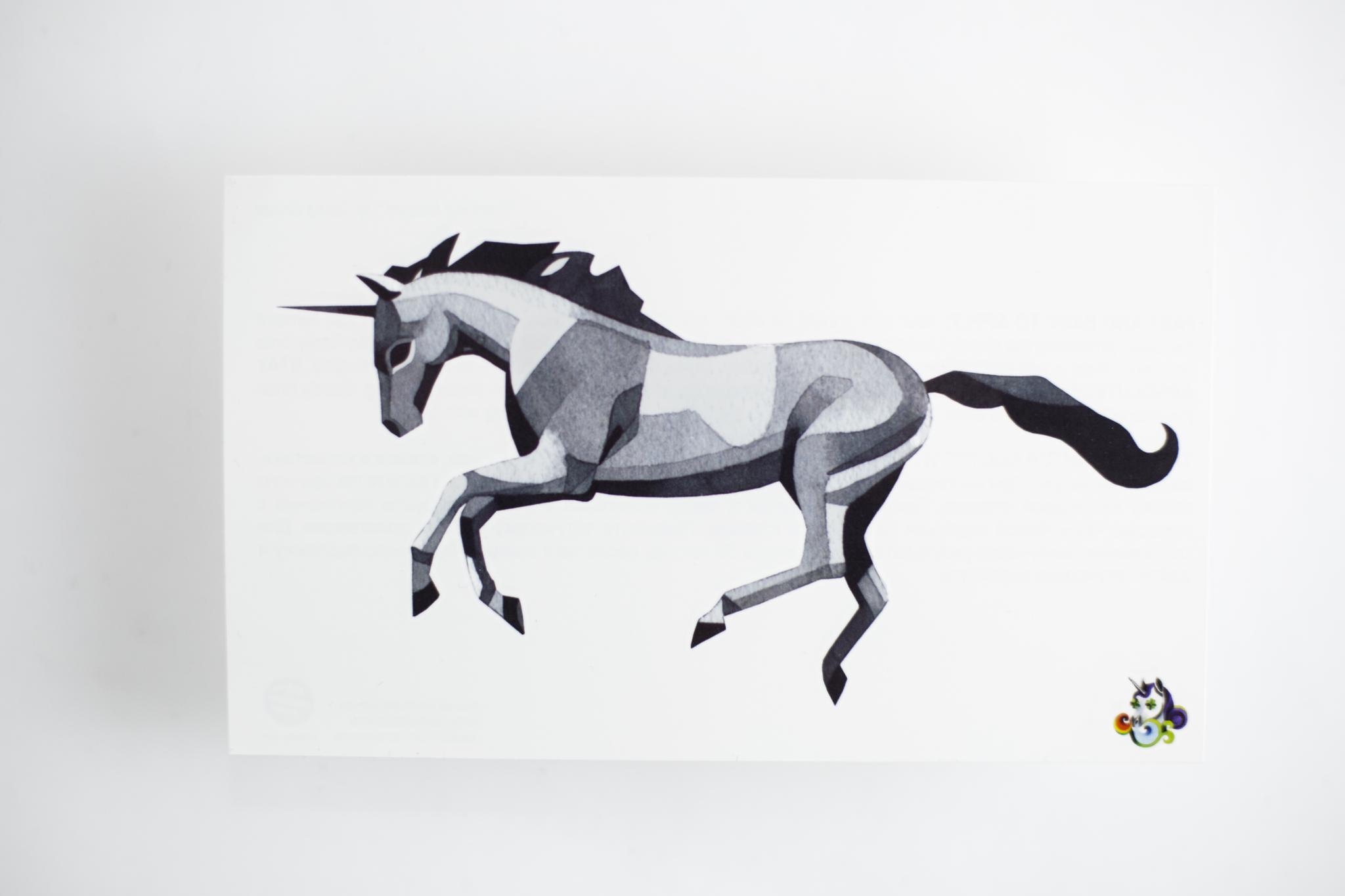 Переводная татуировка Prancing Unicorn