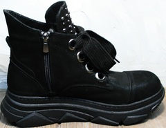 Ботинки в спортивном стиле женские Rifellini Rovigo 525 Black.