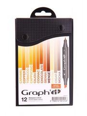 Набор маркеров GRAPH'IT WOOD 12шт. земельные цвета