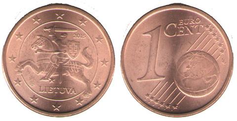 1 евроцент 2015 года
