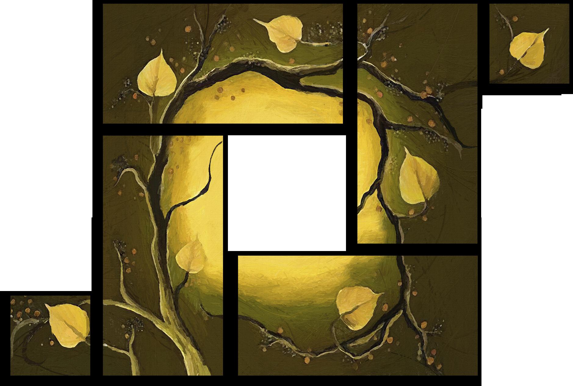 """Абстракция Модульная картина """"Поздняя осень"""" М231.png"""