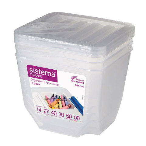 """Набор контейнеров-органайзеров Sistema """"Storage"""" 1,3 л, 3шт."""