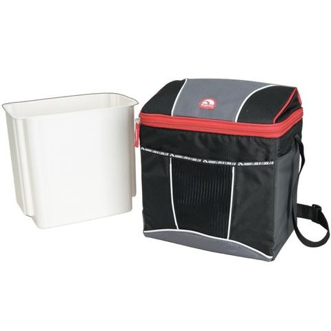 Термосумка Igloo HLC 12 с пластиковым коробом (9 л.), черная/красная