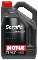 MOTUL SPECIFIС 504 00 / 507 00 5W30 5л