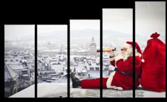 "Модульная картина ""Санта-Клаус"""