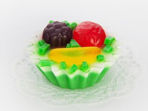 Мыльное ассорти/пирожное: КОРЗИНКА ФРУКТОВАЯ, 108g TM ChocoLatte