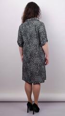 Палма. Гарна сукня-сорочка великих розмірів. Леопард сірий.