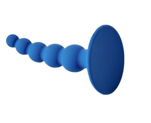 Синяя анальная пробка Pulse - 10 см.