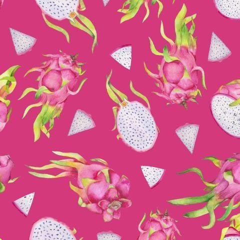Акварельные драгонфруты на розовом