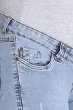 Джинсы для беременных (SLIM) 08706 синий