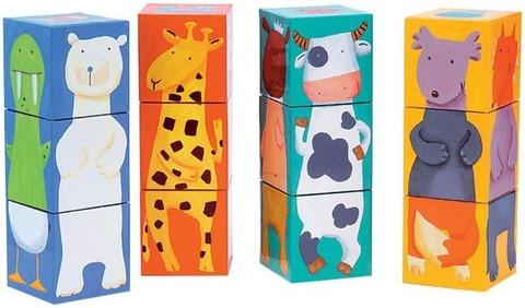 Кубики Животные, 12 штук