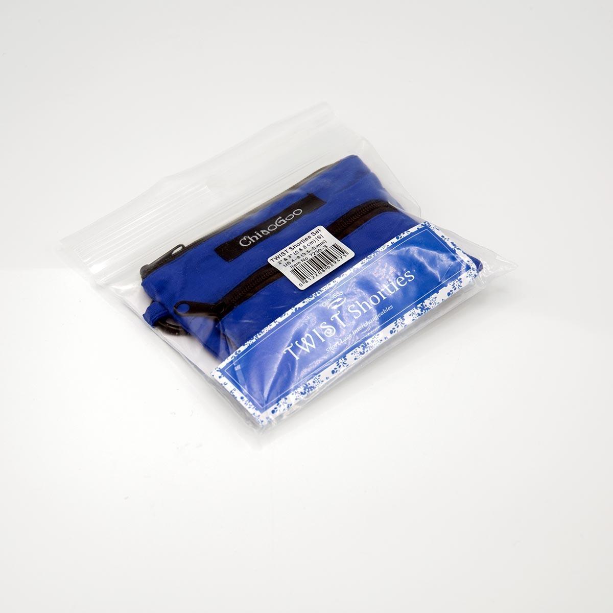 Набор укороченных металлических спиц 5 и 8 см, Twist Shorties Small, ChiaoGoo