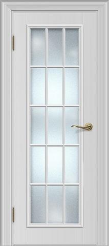 Межкомнатная дверь Louisa 19.1 под стекло (Английская решетка)