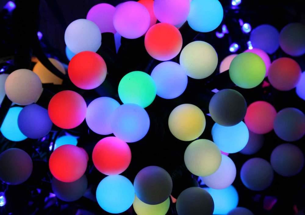 Новогодние товары Гирлянда светодиодная разноцветная Led Twinkle Ligt 10 метров гирлянда_шарики.jpeg