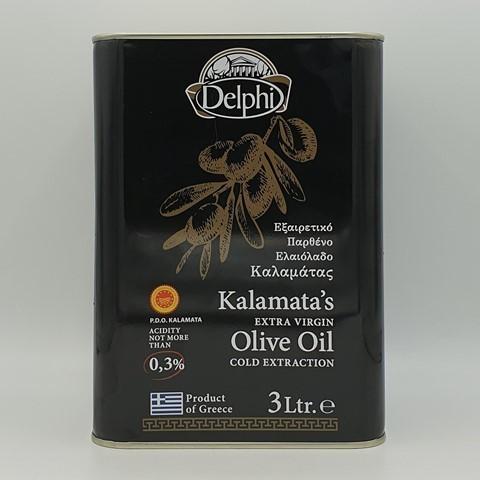 Масло оливковое нерафинированное Extra Virgin Каламата DELPHI