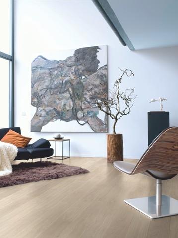 Light grey varnished Oak planks | Ламинат QUICK-STEP UF1304