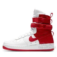 Кроссовки мужские Nike Air Force SF Urban White Red