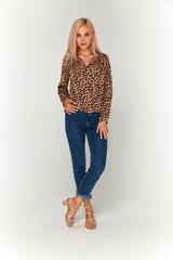 Леопардовая блуза Lolly из софта