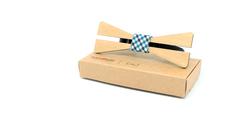 Деревянная галстук - бабочка
