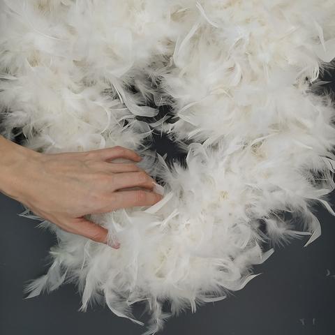 Боа  из перьев индейки 110 гр., 1,9 м. молочный