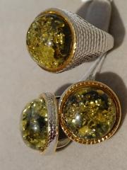 Цефея  круг (кольцо + серьги из серебра)