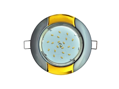 Ecola Светильник GX53 H4 Волна серебро/золото