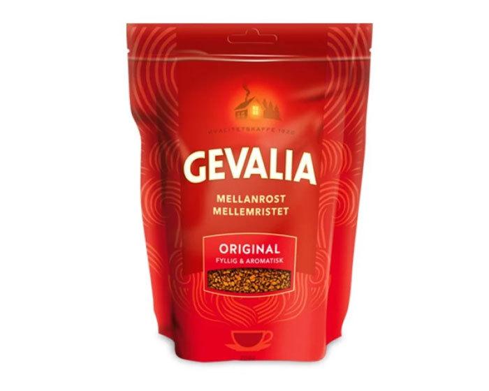 Кофе растворимый Gevalia Mellanrost Original, 200 г пакет (Гевалия)