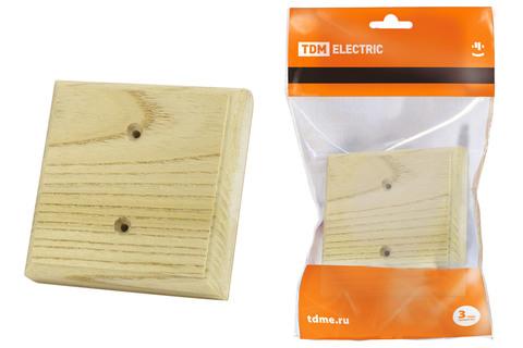 Накладка на бревно деревянная универсальная НБУ 1П 95х95 мм, сосна TDM