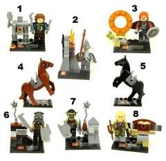 Minifigures Lord of The Rings Blocks Building Series 01