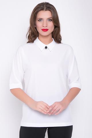 """<p>Хит сезона! Ультра модная модель для уверенной в себе дамы. Рукав """"мышь"""" до локтя на манжете. Свободный крой. Отложной ворот. По бокам разрезы. Длина блузки: 73см</p>"""