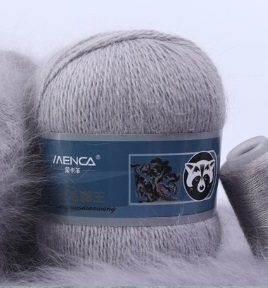 Пряжа Пух норки 852 серый пепел