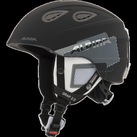 Картинка шлем горнолыжный Alpina GRAP 2.0 black-grey matt