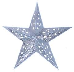 Звезда бумажная голографическая серебряная (60см)