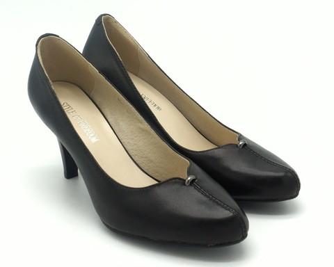 520ц Туфли черные натуральная кожа