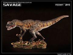 Динозавр фигурка 1/35 Цератозавр Дикарь