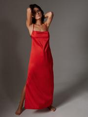 Платье длинное красное Lilit