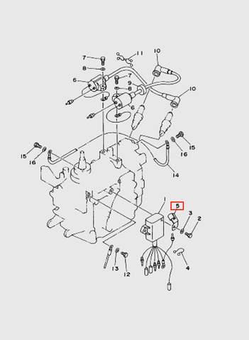 Кронштейн  для лодочного мотора T15, OTH 9,9 SEA-PRO (9-5)