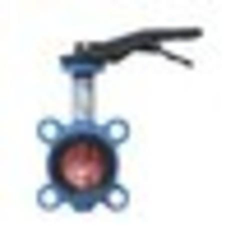 Затвор дисковый поворотный чугун VPI4448-02EP Ду 125 Ру16 межфл с рукояткой диск чугун манжета EPDM Tecofi VPI4448-02EP0125